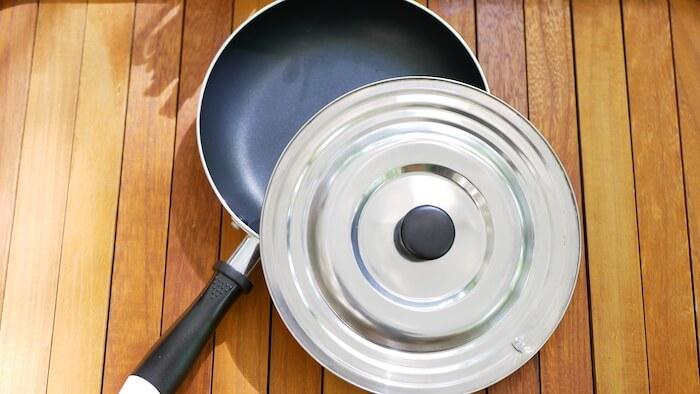 セリア ステンレス 兼用鍋蓋